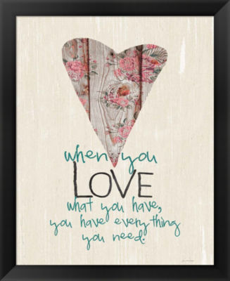 Metaverse Art Love What You Have Framed Wall Art