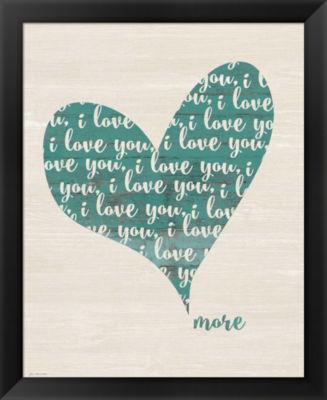 Metaverse Art Love You More Framed Wall Art