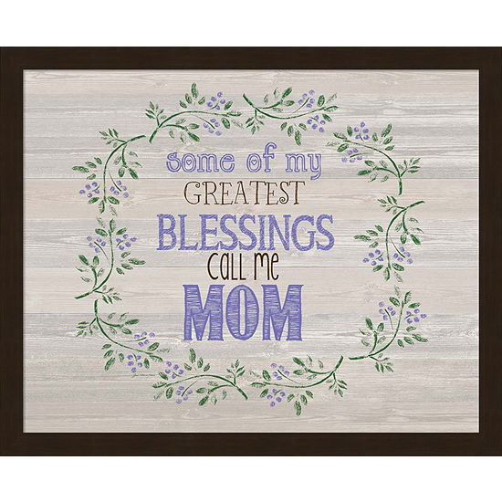 Metaverse Art Moms Blessings Framed Wall Art