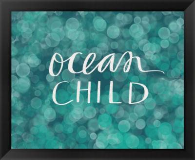 Metaverse Art Ocean Child Framed Wall Art