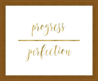 Metaverse Art Progress Over Perfection Framed Wall Art