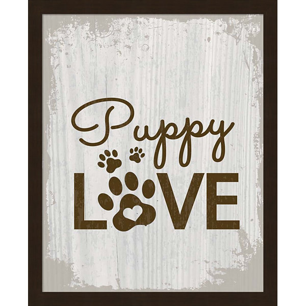 Metaverse Art Puppy Love Framed Wall Art