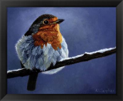 Metaverse Art Resting Bird Framed Wall Art