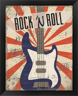 Metaverse Art Rock 'n Roll Framed Wall Art