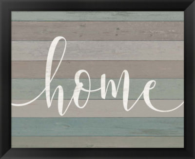 Metaverse Art Rustic Home Script by Jo Moulton Framed Wall Art