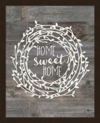 Metaverse Art Rustic Home Sweet Home Framed Wall Art