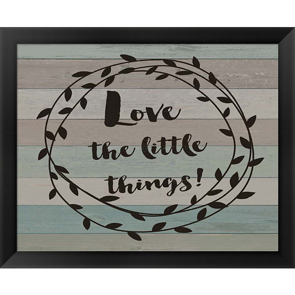 Metaverse Art Rustic Love the Journey Script Framed Wall Art
