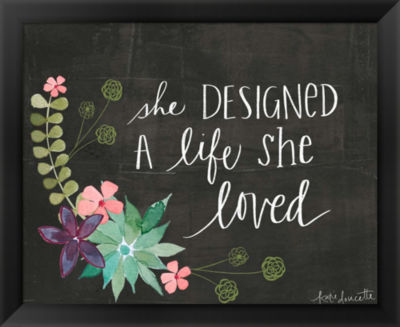 Metaverse Art She Designed a Life She Loved FramedWall Art