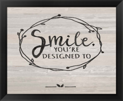 Metaverse Art Smile Framed Wall Art