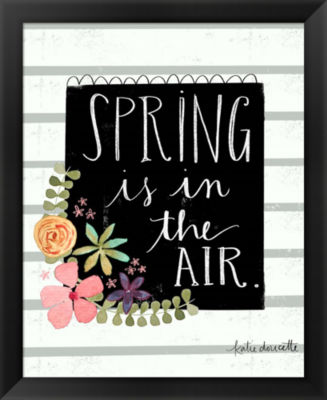 Metaverse Art Spring is in the Air Framed Wall Art