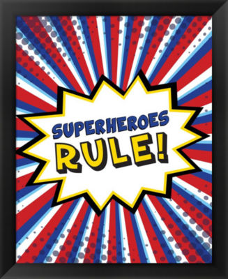 Metaverse Art Superheroes Rule Framed Wall Art