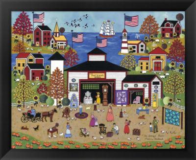 Metaverse Art The Antique Barn Framed Wall Art