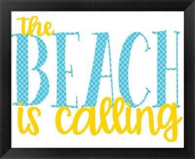 Metaverse Art The Beach is Calling Framed Wall Art