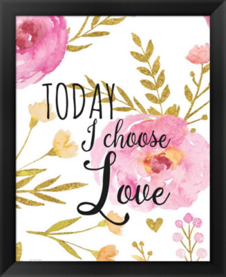 Metaverse Art Today I Choose Love Framed Wall Art