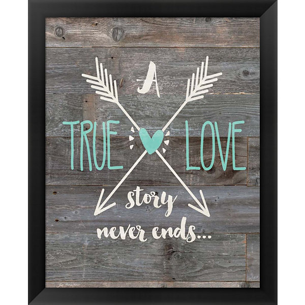 Metaverse Art True Love Story Framed Wall Art