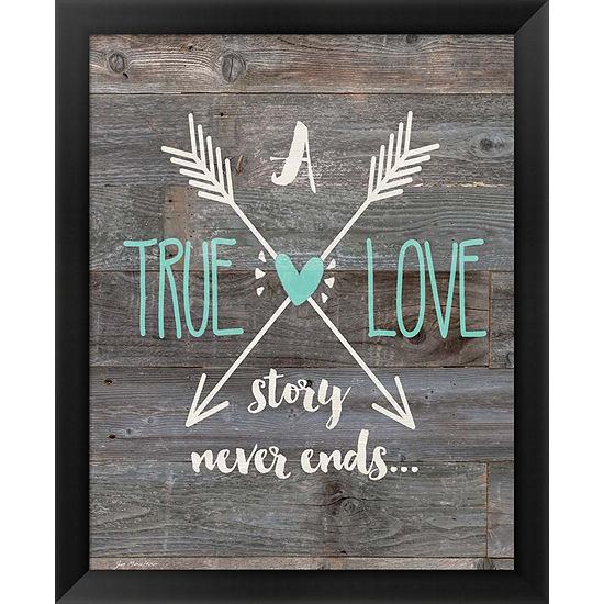 Metaverse Art True Love Story Framed Wall Art