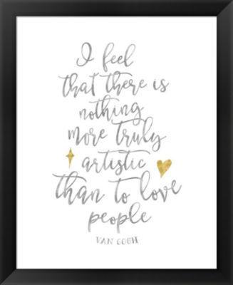 Metaverse Art Van Gogh Love People Quote Framed Wall Art