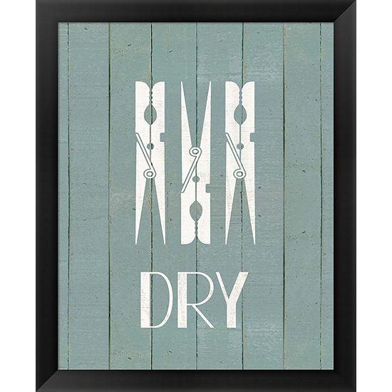 Metaverse Art Wash House Dry Framed Wall Art