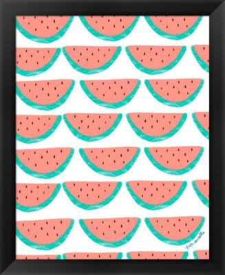 Metaverse Art Watermelon Wallpaper Framed Wall Art