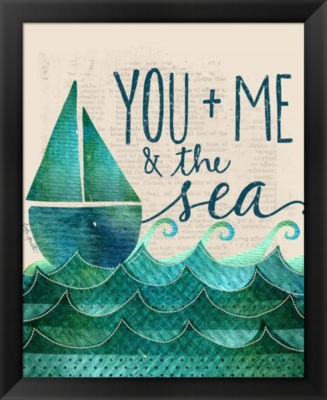Metaverse Art You; Me & the Sea Framed Wall Art