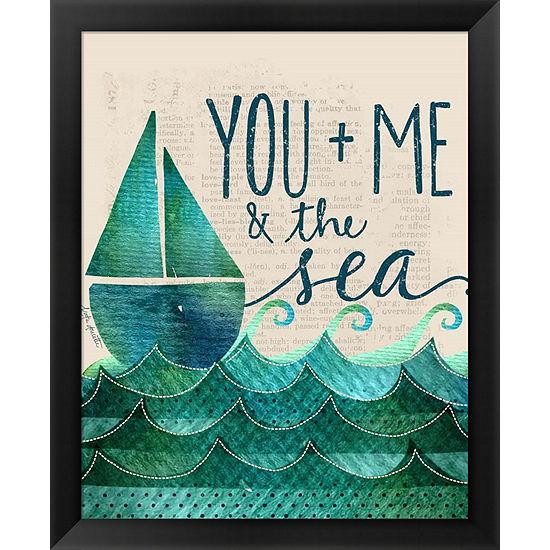 Metaverse Art You; Me & the Sea Framed Wall Art