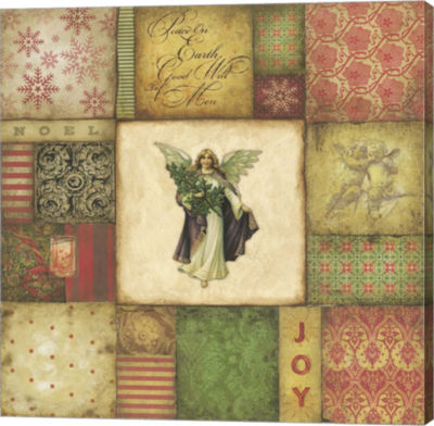 Metaverse Art Angel Tapesrty Canvas Wall Art