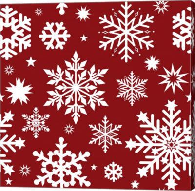 Metaverse Art Snowflake Pattern Canvas Wall Art