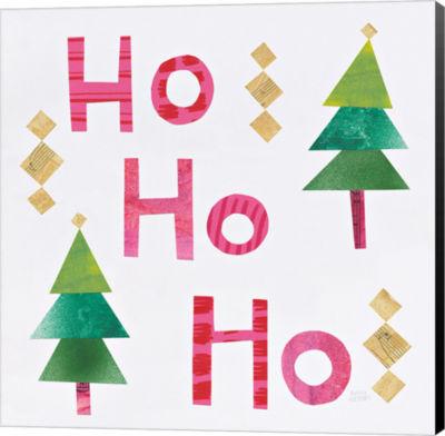 Metaverse Art Christmas Collage I Canvas Wall Art
