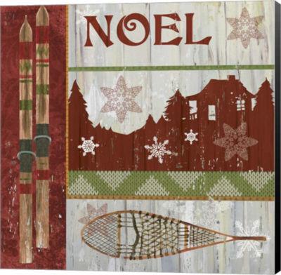Metaverse Art Lodge Greetings Noel Canvas Wall Art