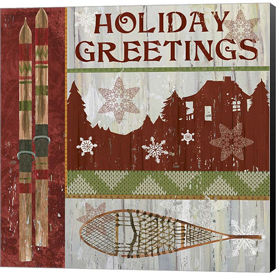Metaverse Art Lodge Greetings Canvas Wall Art - JCPenney