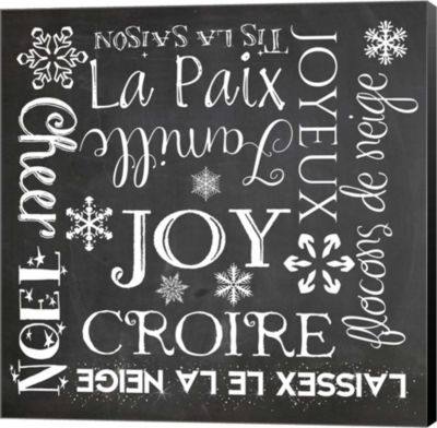 Metaverse Art Christmas Chalk 1 French Canvas WallArt