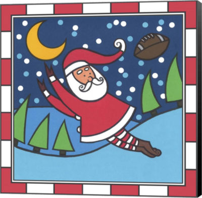 Metaverse Art Santa Football 1 Canvas Wall Art