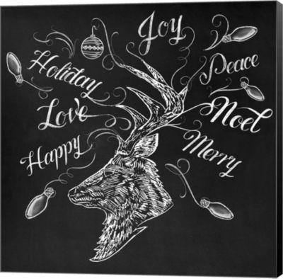 Metaverse Art Christmas Reindeer Wrap Canvas WallArt