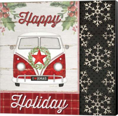 Metaverse Art Happy Holiday Canvas Wall Art