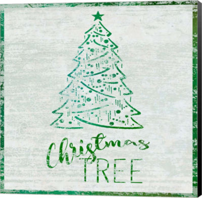 Metaverse Art Christmas Tree Canvas Wall Art