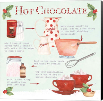 Metaverse Art Christmas Hot Chocolate Canvas WallArt