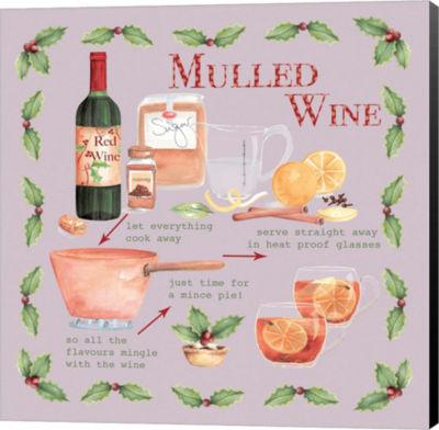 Metaverse Art Mulled Wine Christmas Canvas Wall Art