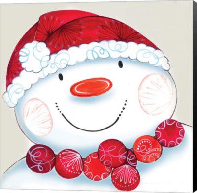 Metaverse Art Holiday Snowman Canvas Wall Art