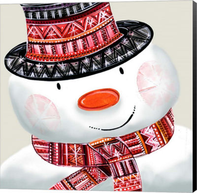 Metaverse Art Snowman Canvas Wall Art