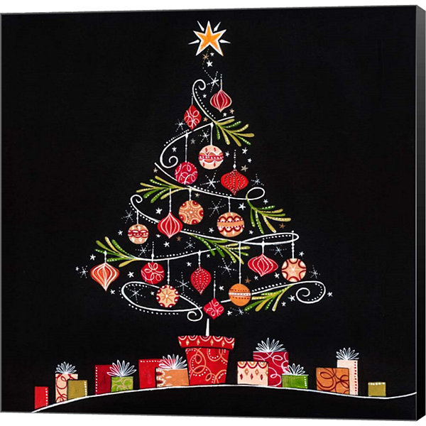 Metaverse Art Christmas Tree by P.S. Art Studios Canvas Wall Art