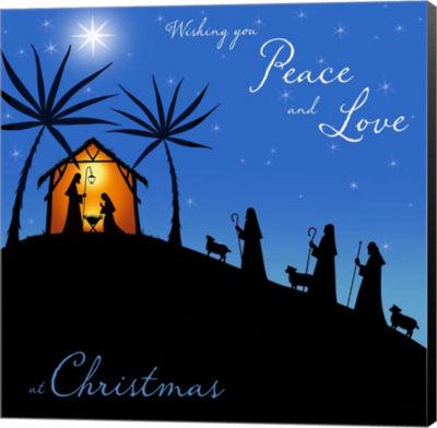 Metaverse Art Wishing You Peace - Shepherds CanvasWall Art