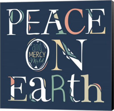 Metaverse Art Peace on Earth Canvas Wall Art