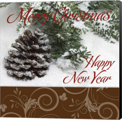 Metaverse Art Merry Christmas Happy New Year AcornSnow Canvas Wall Art