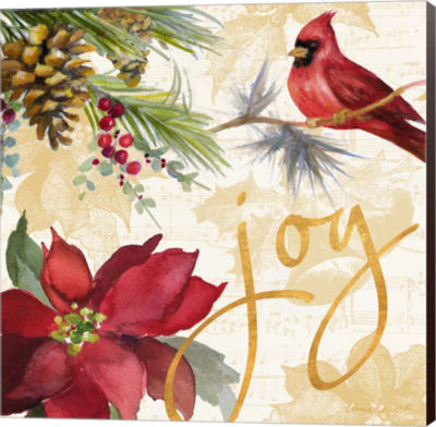 Metaverse Art Christmas Poinsettia I Canvas Wall Art