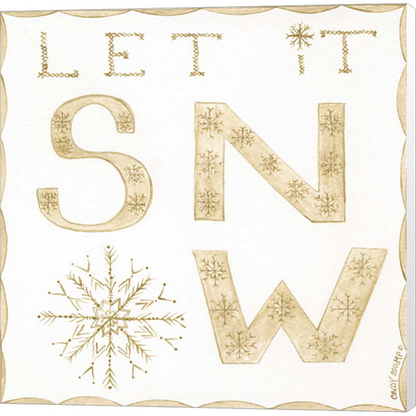 Metaverse Art Let It Snow Canvas Wall Art