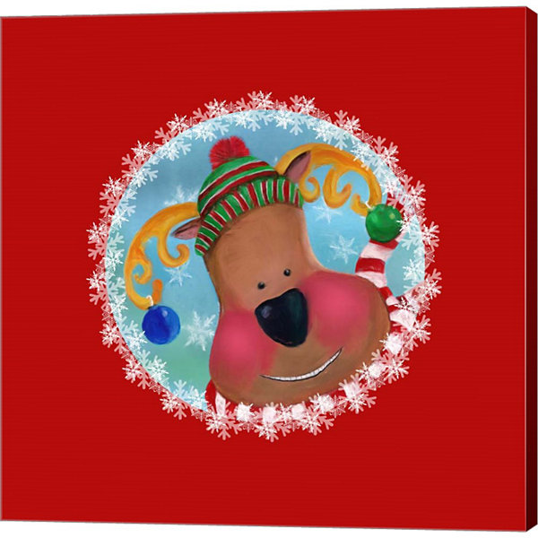Metaverse Art Christmas Critters Reindeer Canvas Wall Art