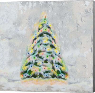 Metaverse Art Jolly Christmas Tree Canvas Wall Art