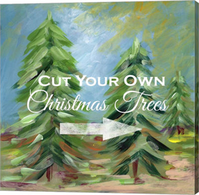 Metaverse Art Cut Your Own Tree Canvas Wall Art