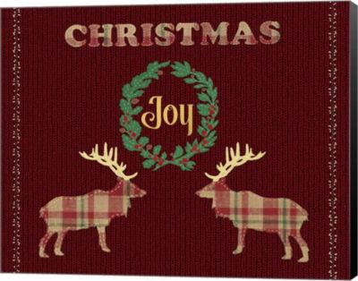 Metaverse Art Christmas Joy Canvas Wall Art