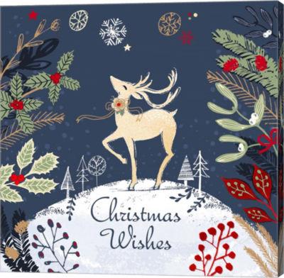 Metaverse Art Christmas Wishes - Reindeer Canvas Wall Art